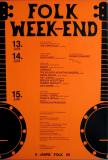 FOLK WEEKEND - 1975 - Konzertplakat - Concert - Folk - Poster - Braunschweig