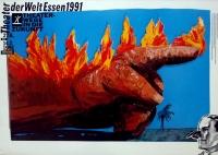 EDELMANN, HEINZ - 1991 - Plakat - Theater der Welt - Essen - Poster - A