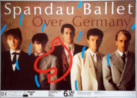 SPANDAU BALLET - 1983 - Plakat - Concert - Over Germany Tour - Poster - Berlin