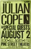 COPE, JULIAN - 1987 - Plakat - In Concert - Poster - Flyer - Portland - USA