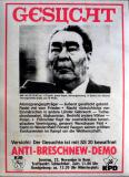 ANTI BRESCHNEW DEMO - 1981 - Plakat - UDSSR - Gesucht - Poster - Bonn