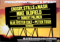 MIDSUMMERNIGHTS DREAM - 1983 - Mike Oldfield - Icehouse - Poster - Darmstadt