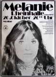 MELANIE - 1973 - Plakat - Concert - Stoneground Words Tour - Poster - Düsseldorf