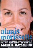 MORISSETTE, ALANIS - 1999 - Plakat - In Concert - Junkie Tour - Poster - Aachen