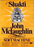SHAKTI - JOHN McLAUGHLIN - 1976 - Plakat - In Concert - Soft Machine - Tourposter
