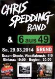 SPEDDING, CHRIS - 2014 - Plakat - In Concert - 6 aus 49 - Poster - Essen