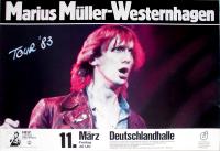 WESTERNHAGEN, MARIUS MÜLLER - 1983 - Plakat - Herz....Tour - Poster - Berlin