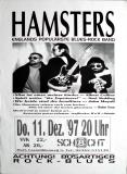 HAMSTERS - 1997 - Plakat - In Concert - Blues Rock - Poster - Marl
