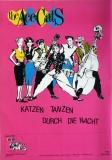 ACE CATS - 1984 - Plakat - Katzen tanzen durch die Nacht Tour - Poster