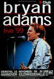 ADAMS, BRYAN - 1999 - Konzertplakat - In Concert - Tourposter - Hannover