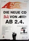 A - 2002 - Promolakat - Hi-Fi Serious - Concert - Toten Hosen - Tourposter