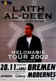 AL-DEEN, LAITH - 2002 - Konzertplakat - Melomanie - Tourposter - Bremen