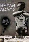 ADAMS, BRYAN - 2005 - Plakat - Concert - Room Service Tour - Poster - Hamburg