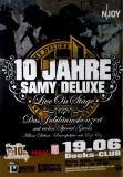 DELUXE, SAMY - 2011 - Plakat - Hip Hop - Jubiläumskonzert Tour - Poster - Hamburg