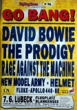 GO BANG - 1997 - Plakat - David Bowie - Prodigy - Rage Against - Poster - Lübeck