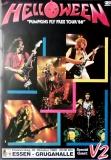 HELLOWEEN - 1988 - Konzertplakat - Concert - Punpkins fly.. - Tourposter - Essen
