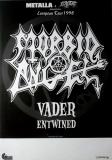MORBID ANGEL - 1998 - Plakat - In Concert - Vader - European Tour - Poster