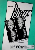 BOWIE, DAVID - 1983 - Konzertplakat - Serious Moonlight - Tourposter - Berlin
