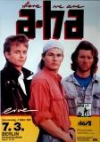 A-HA - 1991 - Konzertplakat - Concert - Here we Are - Tourposter - Berlin