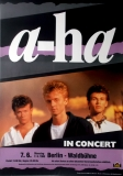 A-HA - 1988 - Konzertplakat - Concert - Tourposter - Berlin