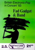 FAD GADGET - TOVEY - 1983 - Konzertplakat - Under the Flag - Tourposter - Berlin