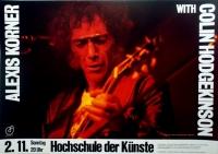 KORNER, ALEXIS - 1980 - Plakat - In Concert - Hodgekinson - Poster - Berlin