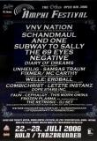 AMPHI FESTIVAL - 2006 - Plakat - VNV Nation - And One - Unheilg - Poster - Köln