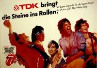 ROLLING STONES - 1982-00-00 - Promoplakat - TDK - Cassette - Poster