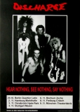 DISCHARGE - 1982 - Plakat - In Concert - Hear Nothing Tour - Poster