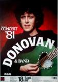 DONOVAN - 1981 - Plakat - In Concert - Love is.. Tour - Poster - Frankfurt