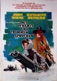 MIT DYNAMIT UND FROMMEN SPRÜCHEN - 1975 - Plakat - John Wayne - Poster