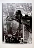 DUCK CHRYSLER OVER NEW NEW YORK - 1995 - Kunstdruck - Donald Duck - 70x50