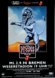 ROLLING STONES - 1998-09-02 - Plakat - Bridges to - Poster - Bremen (L)