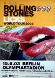ROLLING STONES - 2003-06-15 - Plakat - Licks - Poster - Berlin