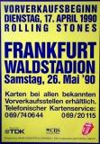 ROLLING STONES - 1990-05-26 - Plakat - Urban Jungle - Poster - Frankfurt (VK)