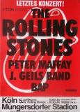 ROLLING STONES - 1982-07-05 - Plakat - European Tour - Poster - Köln - A2