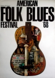 AMERICAN FOLK & BLUES - 1968 - Plakat - Günther Kieser - Poster
