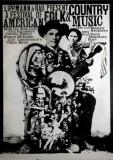 AMERICAN FOLK & COUNTRY - 1966 - Plakat - Günther Kieser - Poster