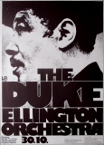 ELLINGTON, DUKE - 1973 - Plakat - Günther Kieser - Tourposter - Frankfurt