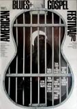AMERICAN FOLK & GOSPEL - 1970 - Plakat - Günther Kieser - Poster -  Frankfurt