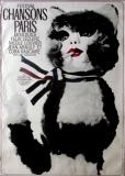 CHANSONS PARIS - 1972 - Plakat - Günther Kieser - Felix Leclerc - Poster