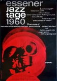 ESSENER JAZZ TAGE - 1960 - Konzertplakat - Concert - Kieser - Tourposter - Essen