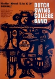 DUTCH SWING COLLEGE BAND - 1962 - Konzertplakat - Kieser - Poster - Düsseldorf