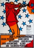 JAZZ AT THE PHILHARMONIC - 1972 - Konzertplakat - Peterson - Eldridge