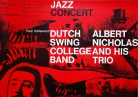 DUTCH SWING COLLEGE BAND - 1961 - Konzertplakat - Kieser - Poster - Hamburg