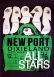 NEW PORT DIXIELAND - 1961 - Konzertplakat - All Stars - Kieser