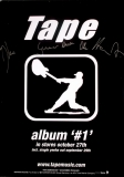 TAPE - Promoplakat - Album #1 - mit Autogrammen - Poster - Signed