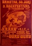 FINKENBACH FESTIVAL 3 - 1979 - Konzertplakat - Guru Guru - Kraan - Poster - O