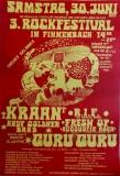 FINKENBACH FESTIVAL 3 - 1979 - Konzertplakat - Guru Guru - Kraan - Poster - R