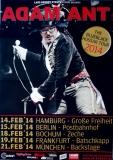 ADAM ANT - 2014 - Tourplakat - Concert - Blueblack Husar - Tourposter